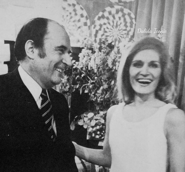 Dalida et François Mitterand