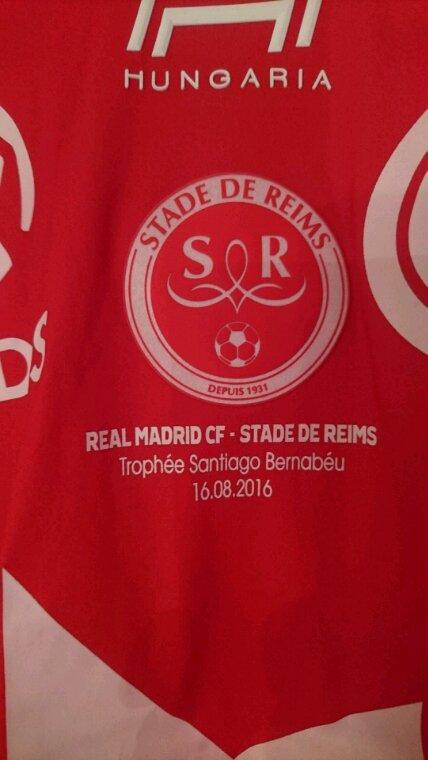 Maillot porté Reims match contre le Réal Madrid