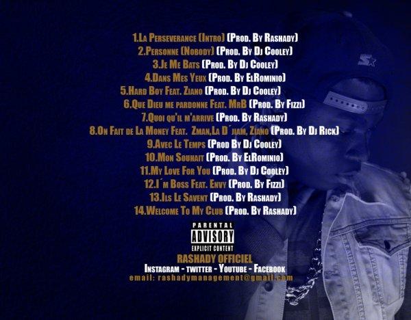 Voici la Tracklist Officiel de #LA PERSEVERANCE