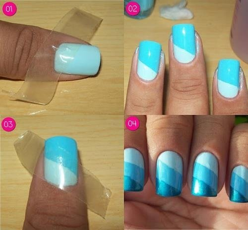 Nail art nuances de couleurs :)