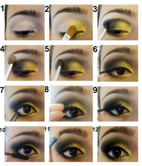 Make up jaune et noir