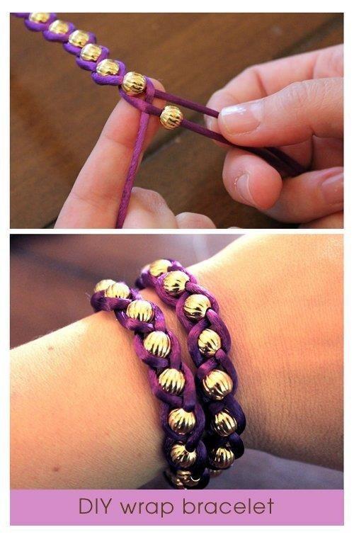 Bracelet tresse-perles