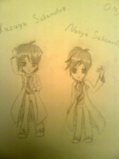 Kazuya & Naoya Sakamoto manga style dessin by me =)