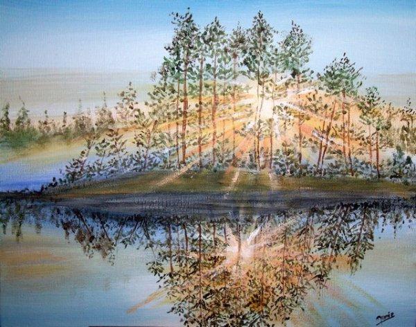 MES POESIES   mes peintures : peinture acrylique : illusion