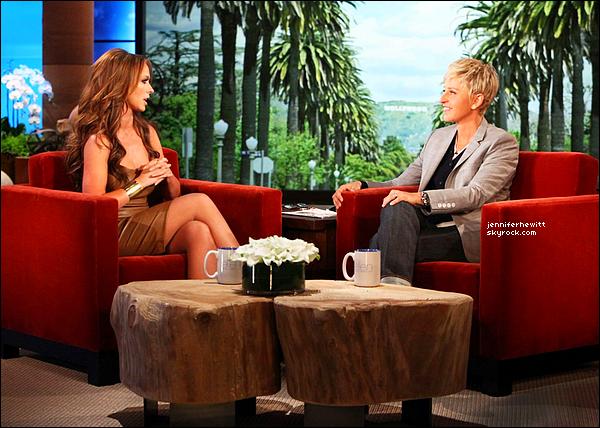 05/04/2012 - Jennifer Love Hewitt a été interviewée chez Ellen Degeneres Show.