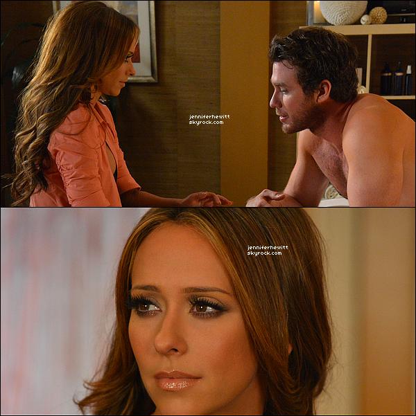 """FICHE TECHNIQUE DE L'EPISODE 08 DE THE CLIENT LIST  SYNOPSIS DE L'EPISODE - Veuillez créditez le blog JenniferHewitt ou LifeTime pour ce synopsis si vous l'empruntez. Les tensions poussent entre Riley et sa collègue, Selena lorsque cette dernière commence à sortir avec Evan. Riley considère que l'absence d'un modèle de rôle masculin dans la maison quand son fils, Travis, est pris dans une """"situation curieuse"""" avec la fille de Taylor. Riley prête des conseils à un de ses clients, un cowboy de rodéo, où sa relation se heurte à un mur. Linette essaie de rivaliser avec Taylor quand elle s'applique à un prêt pour acheter le salon."""
