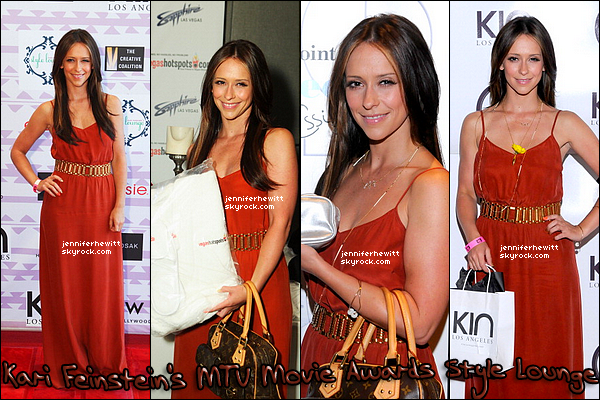 01/06/2012 - Jennifer Love Hewitt était en route pour le Kari Feinstein MTV Movie Awards Style Lounge.