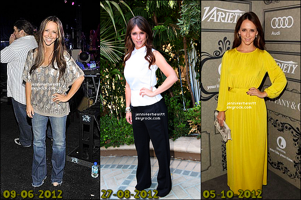 SONDAGE DE FIN D'ANNEE 2012 - QUELLE TENUE DE SOIREE AVEZ-VOUS PREFEREZ ?Voici ci dessous, toutes les tenues de soirée qui ont été portées par Jennifer Love Hewitt lors de l'année 2012 pour des occasions un peu plus spéciales (Tapis rouges, conférences,...). Parmis ces quelques tenues variées et hautes en couleurs, laquelle élirez-vous comme la tenue de l'année 2012 pour notre belle actrice ? N'hésitez pas à cliquer sur votre ensemble favori!
