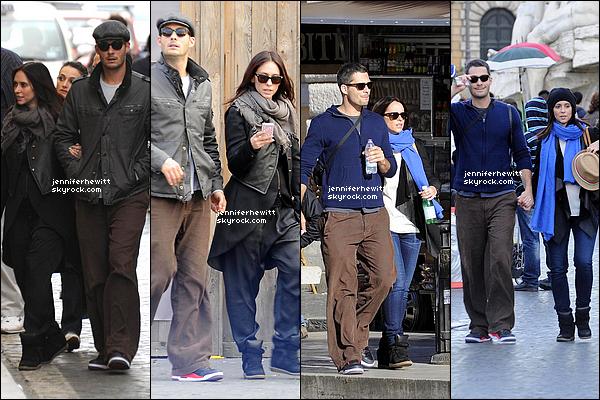 28/05/2013 - Et c'est main dans la main que Jennifer et Brian Hallisay se baladent dans la ville de Rome.