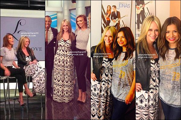 09/04/2014 - Jennifer Love Hewitt s'est rendue dans les studio de E!News pour la promo de sa collection.