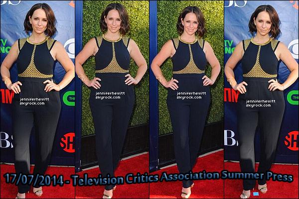 """17/07/2014 - JLove Hewitt était présente pour le """"Television Critics Association Summer Press"""" avec le cast d'EC."""