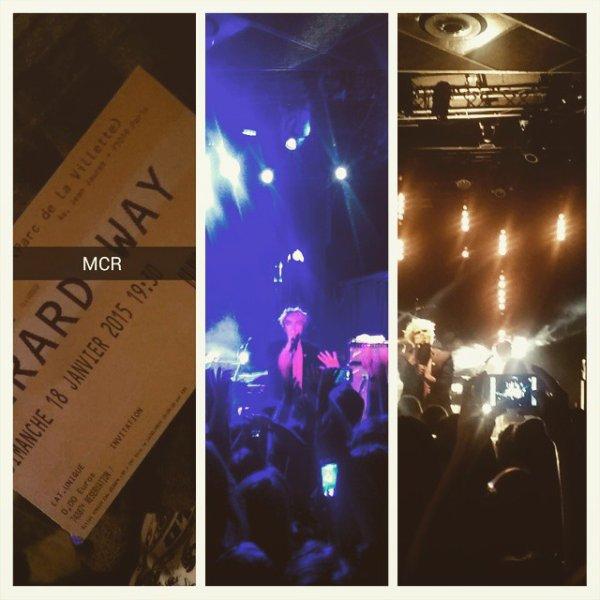 Concert GERARD WAY à PARIS TRABENDO le 18 Janvier 2015