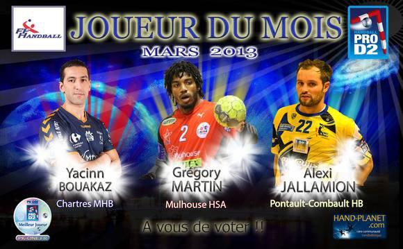 Handball ProD2 : Elisez le joueur du mois de mars