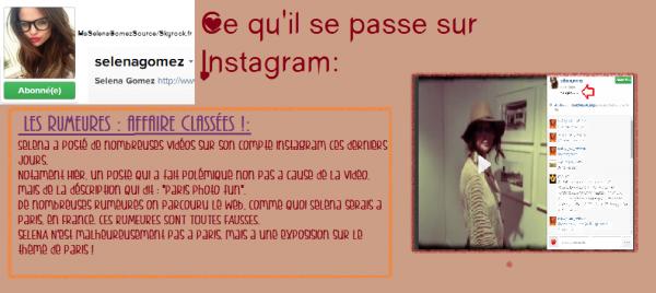 Selena Gomez Avril 2014 : Instagram