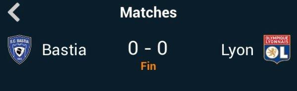 Bastia vs Lyon