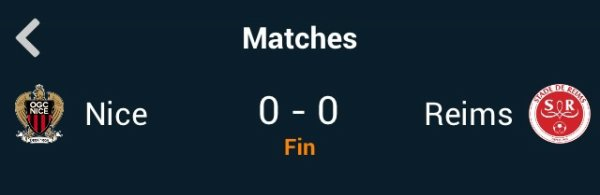 Nice vs Reims