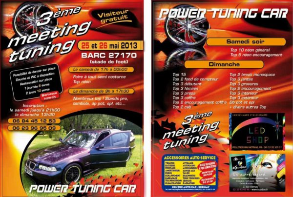 meeting des POWER TUNING CAR 2013