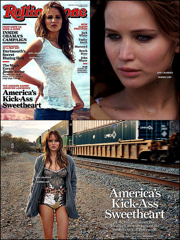 Le tournage du film « Serena », Jen. tenant le rôle de Serena, a débuté. Sa sortie est prévue pour 2013. →  Lawrence fait la couverture du magazine US « Rolling Stone » du mois d'avril 2012.   Que penses-tu des scans ?
