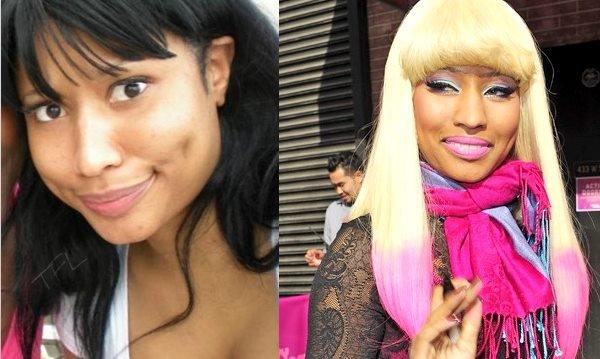 Nicki Minaj, avec et sans maquillage. Vous en pensez quoi de la différence?