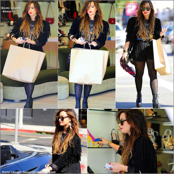 4 Octobre - Demi, accompagnée d'une amie a été vue faisant du shopping dans Studio City. Trop de noir, tue le noir. Je dirais un BOF.
