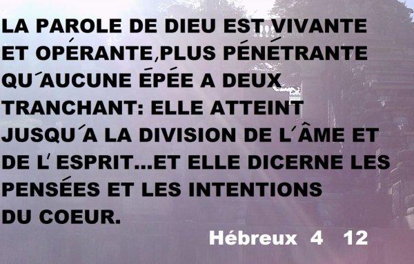 HEBREUX 4    12