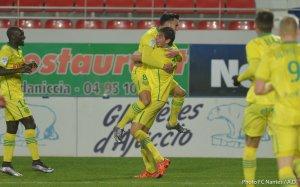 GFC Ajaccio / FCN : 1 / 1