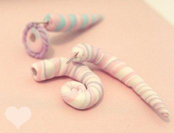 • DIY - Des faux plugs, spirals, en fimo ! •