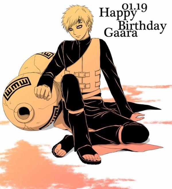 Happy Birthday Gaara !!!