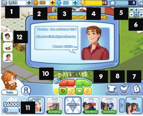 Guide Sims social