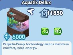 """Aquarium """" Delux Aquatix """" Sims Social"""