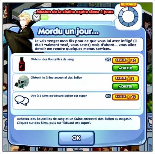 Nouvelle Quête Sims social