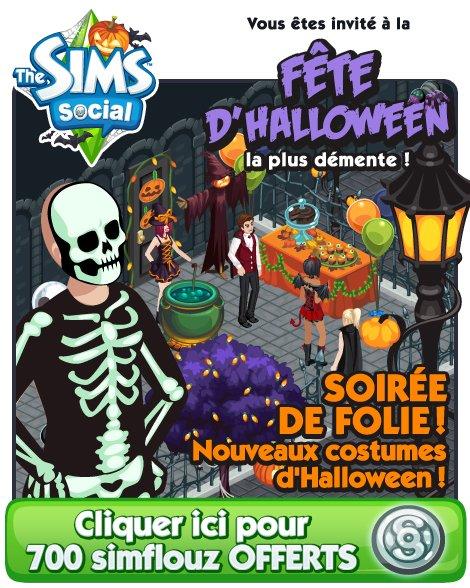 700 Simflouz Gratuit pour Halloween !