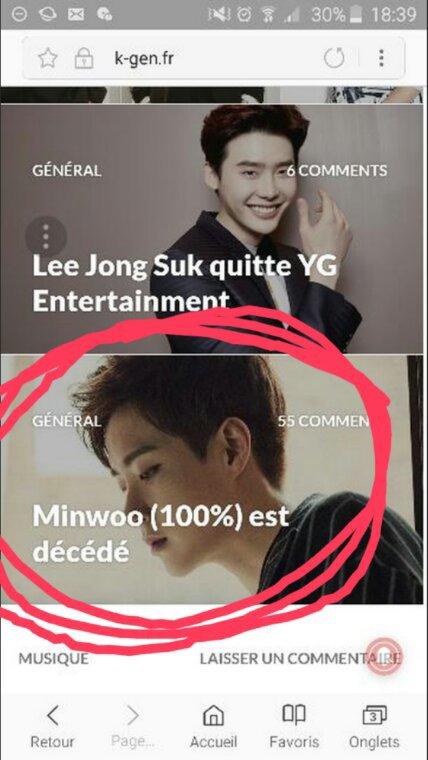 Minwoo, leader des 100% est vraiment décédé ;-;