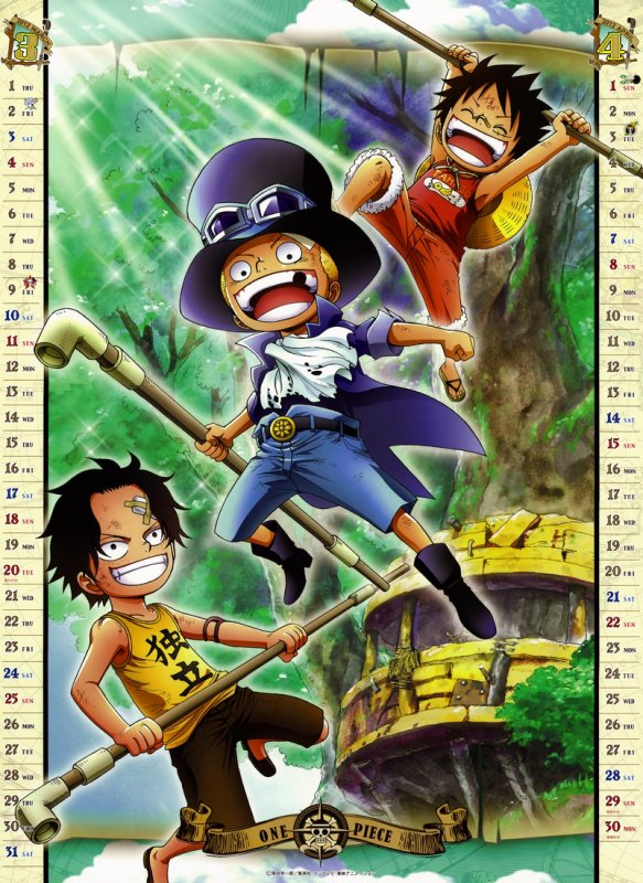 One Piece Anime Calendrier 2012