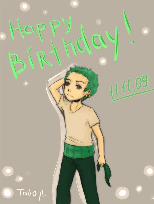 Happy Birthday Zoro