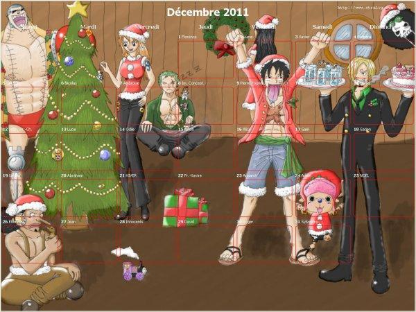 calendrier du mois de décembre