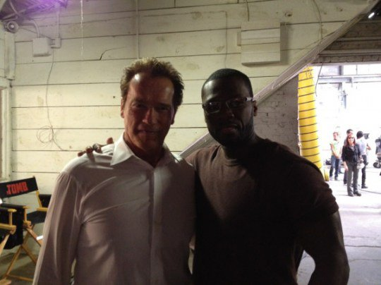 Arnold Schwarzenegger & 50 Cent (PHOTO)