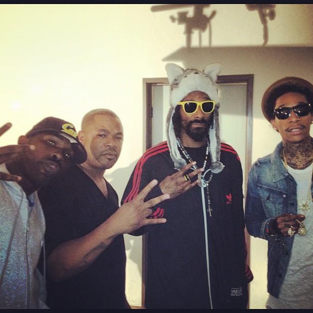 Slim the Mobster, Xzibit, Snoop Dogg & Wiz Khalifa (PHOTO)