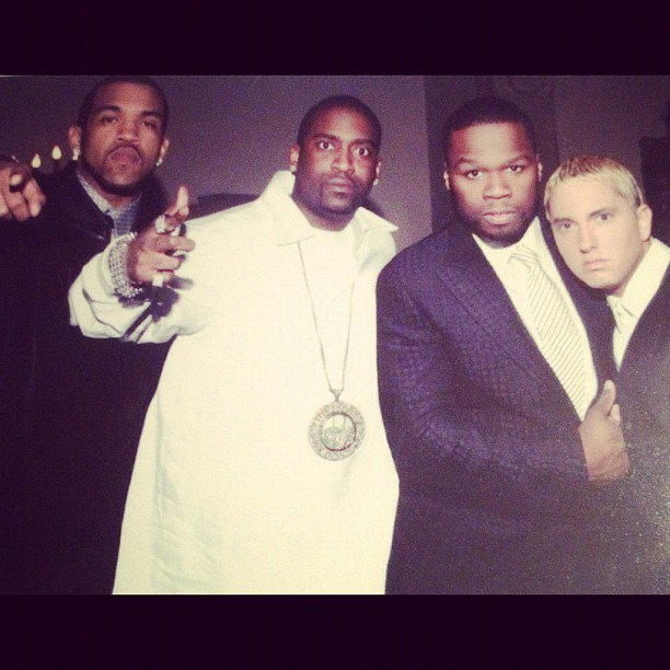 Lloyd Banks, Tony Yayo, 50 Cent & Eminem (PHOTO RARE)
