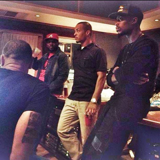 T.I., Young Jeezy & B.o.B. En Studio (PHOTO)