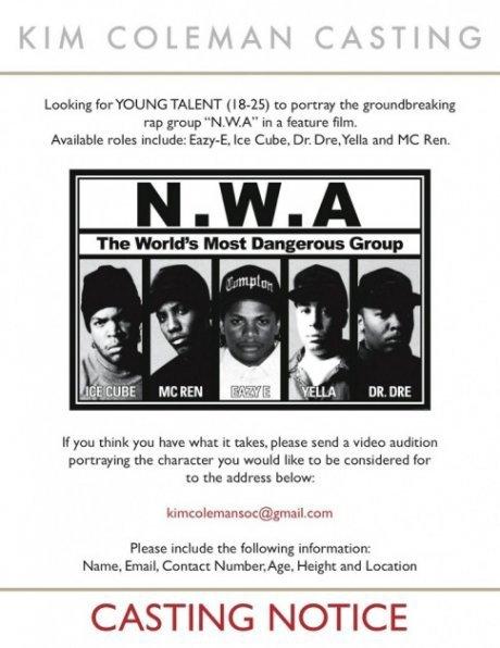 Incarnez Dr Dre, Ice Cube, Eazy-E Pour Le Film N.W.A