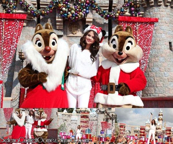 . 7 novembre:Selena à une parade Disney pour Noël à Anaheim. .