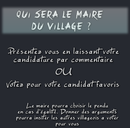 Election du maire