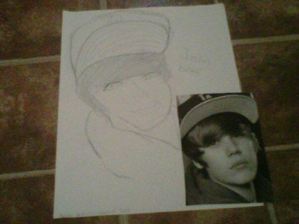 Bieber en dessin xD