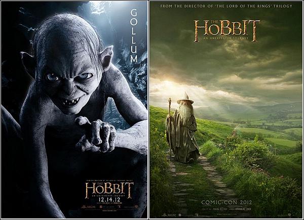 + AFFICHES : Découvrez les affiches de The Hobbit ,un voyage inattendu .