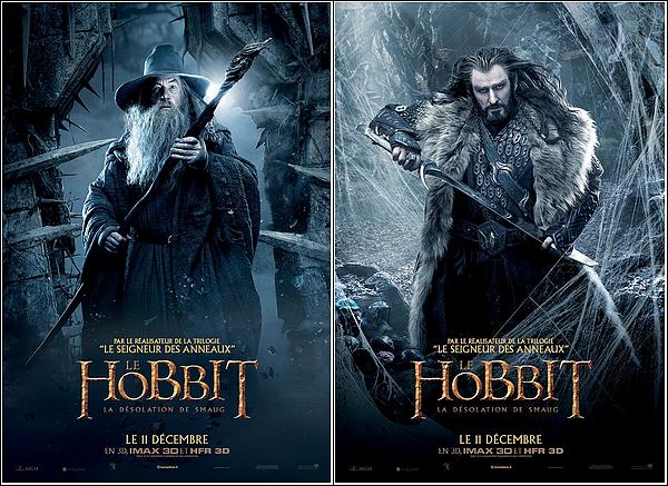 + AFFICHES : 2 nouvelles affiches sur The Désolation Of Smaug .