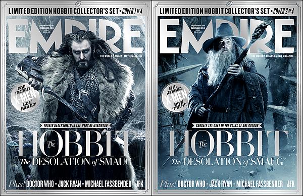 → MAGAZINE : Découvrez les couvertures The Désolation Of Smaug dans le magazine EMPIRE.
