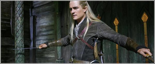 """Orlando Bloom : """"Vous allez enfin comprendre qui est Légolas !"""" ;                            The Hobbit The Désolation Of Smaug ."""