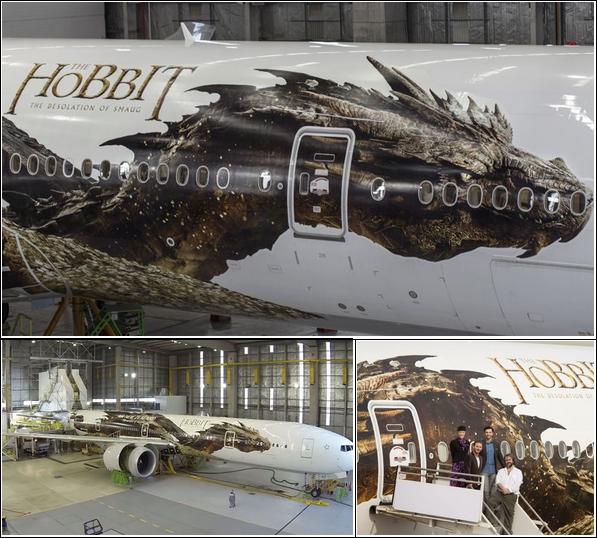 → NEWS :  Découvrez l'avion officiel de The Hobbit ,envolez-vous dans son univers merveilleux grave au dragon Smaug .