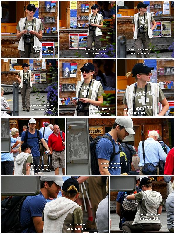 .23 août 2010....Scarlett Johansson aperçue avec son mari Ryan Reynolds en vacances en Suisse Top ou Flop ?.